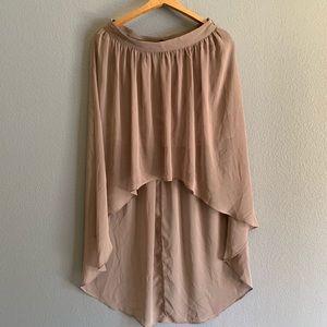 High-low sheer skirt